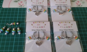 Rainbow themed charms raising money for MK Pride